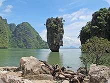 la baie de Phang-Nga et l'ile de James Bond