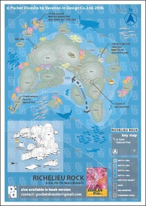 Richelieu Rock Map